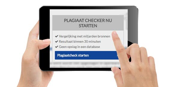 Naar de plagiaat checker